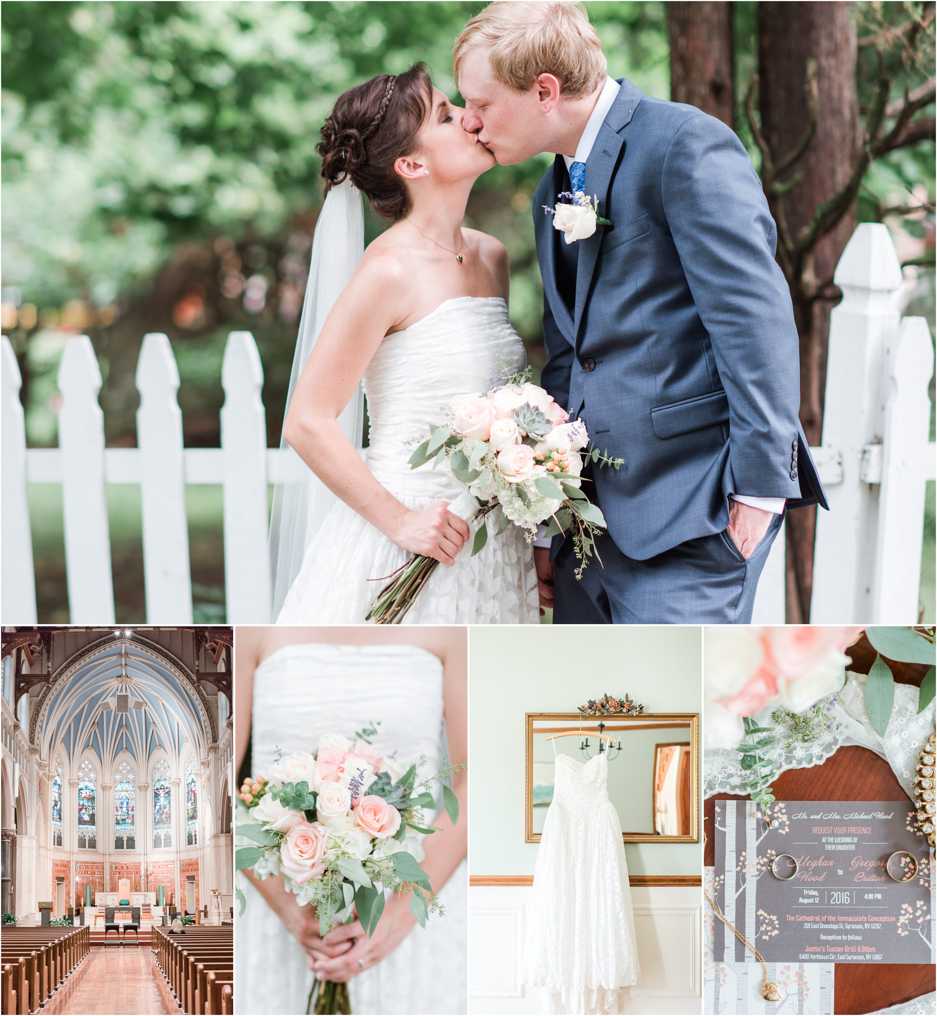 A Syracuse, New York Wedding at the Cathedral of the Immaculate Conception and Justin's Tuscan Grill