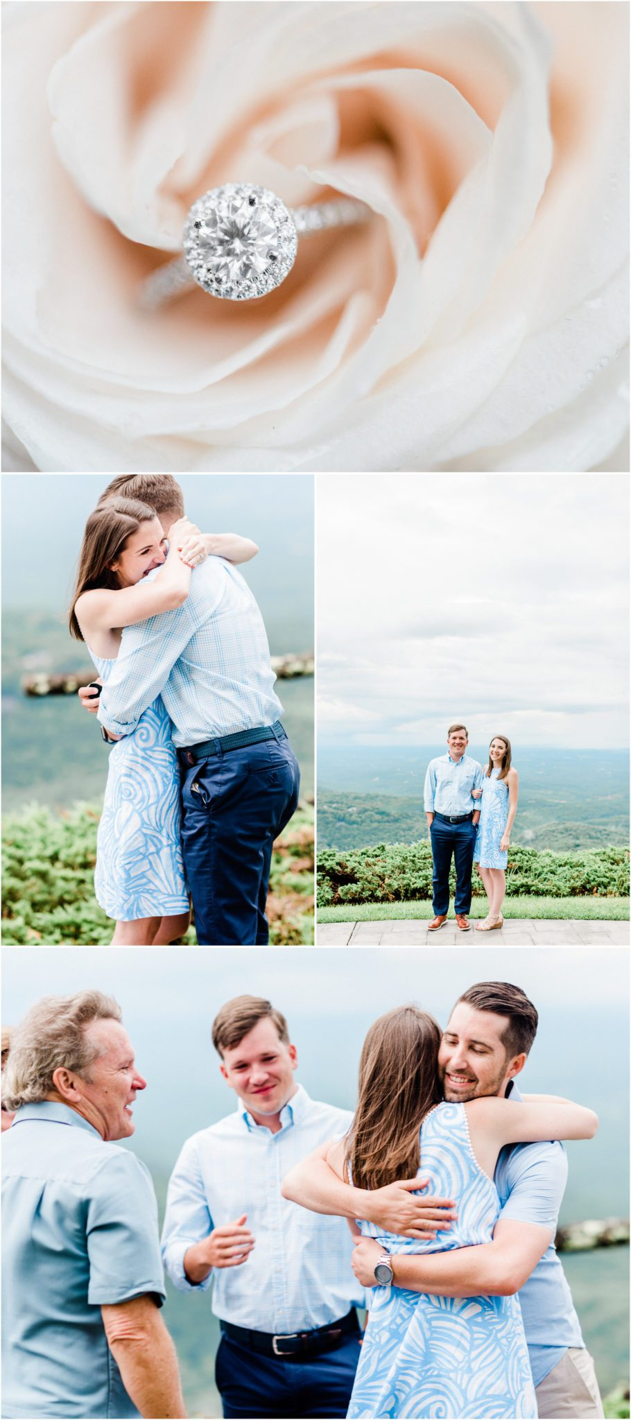 Glassy Chapel Family Session at the Cliffs in Landrum, South Carolina proposal