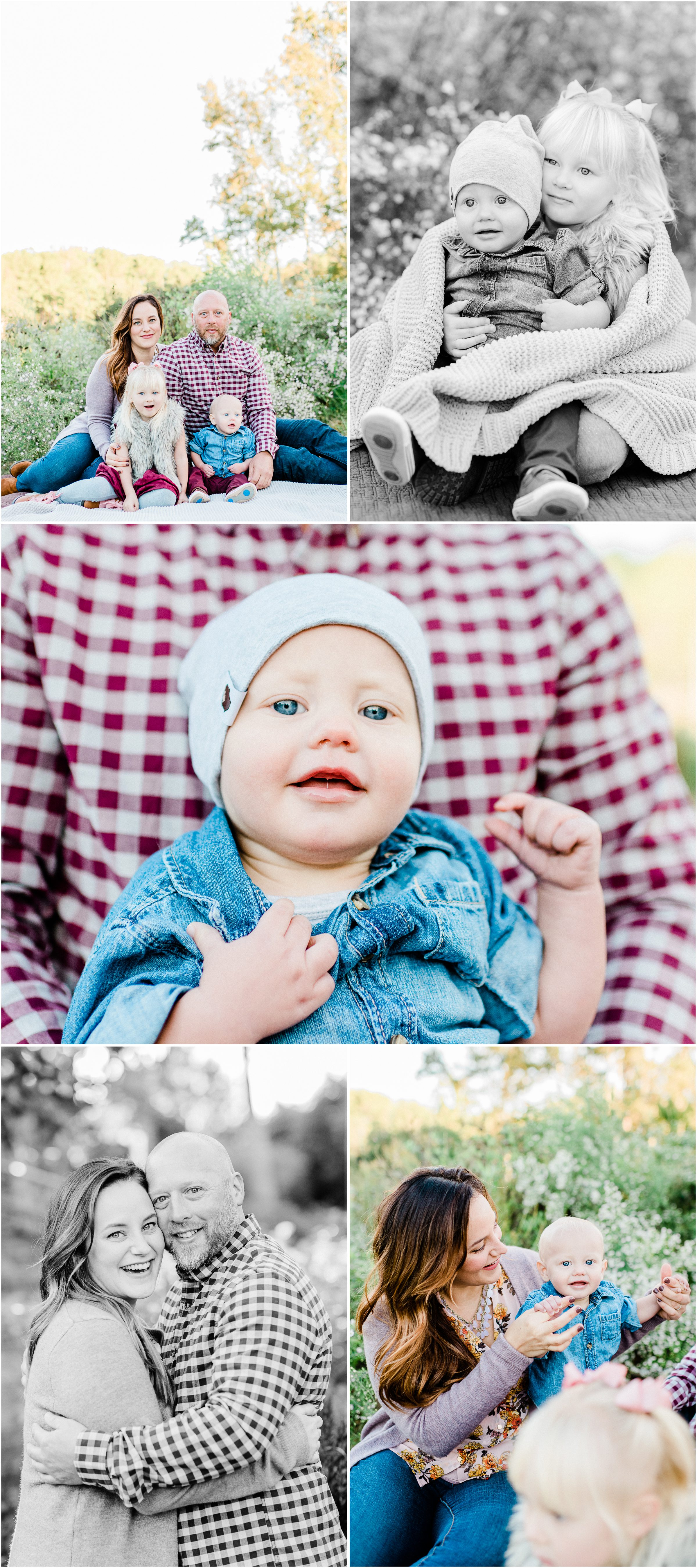 Wine Colored Fall Furman Family session in Greenville, SC