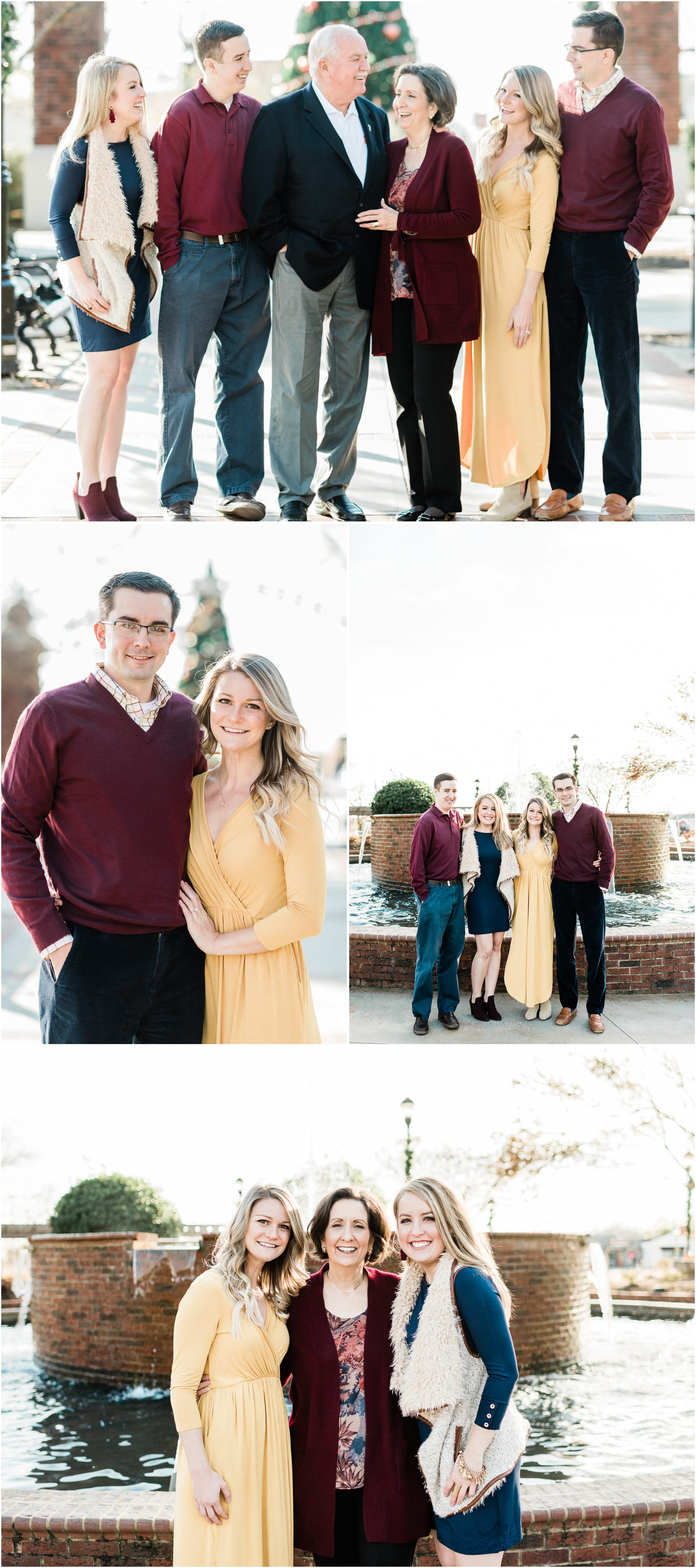 Greer family session in downtown Greer SC