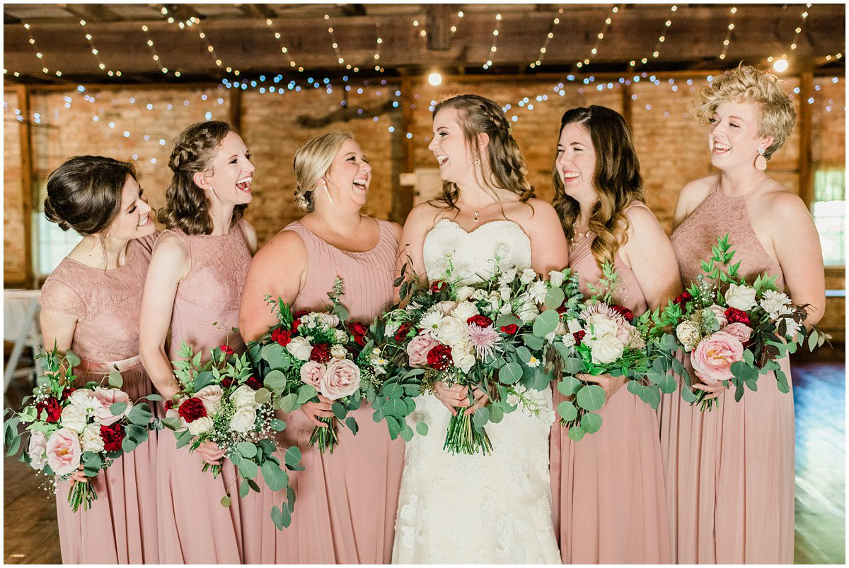 Sleepy Hollow Clemson Wedding with dusty rose bridesmaids