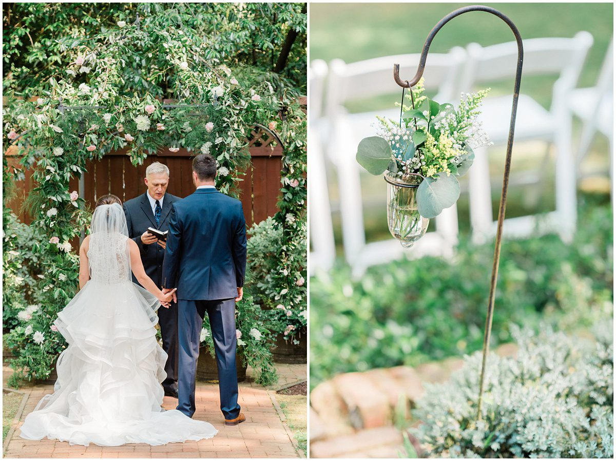 Duncan Estate Outdoor Wedding Ceremony in Spartanburg, SC.