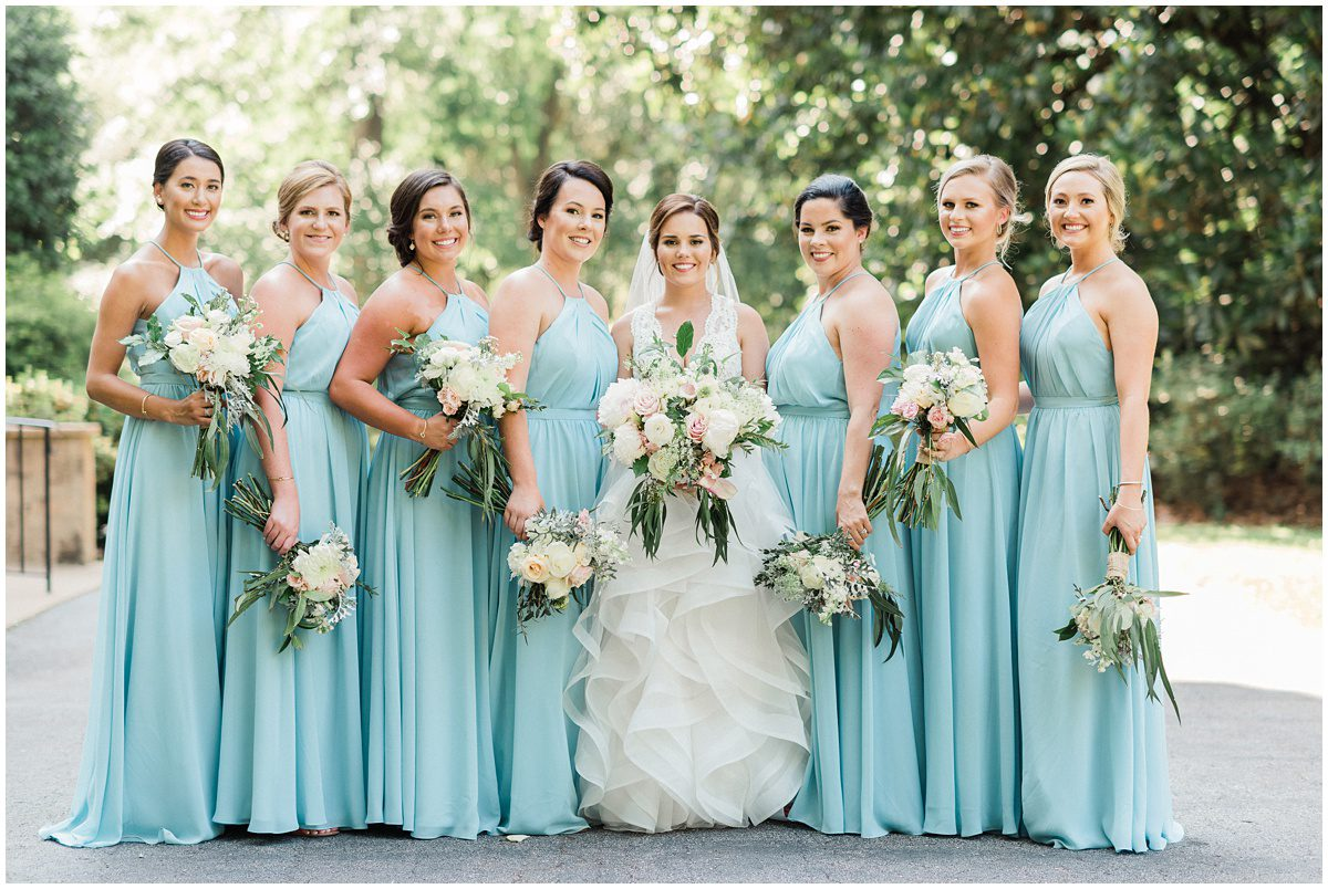 Duncan Estate Wedding Bridesmaids in Light Blue Dresses