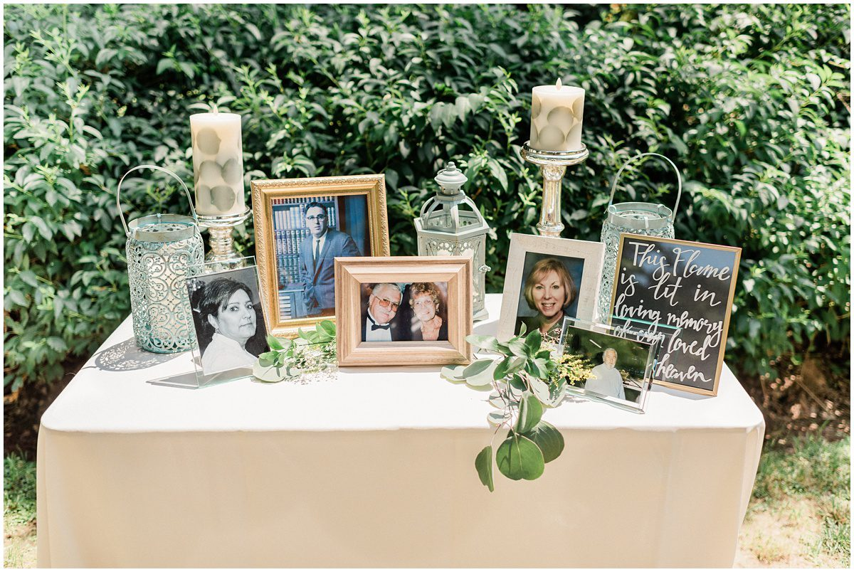 Wedding Memory Table