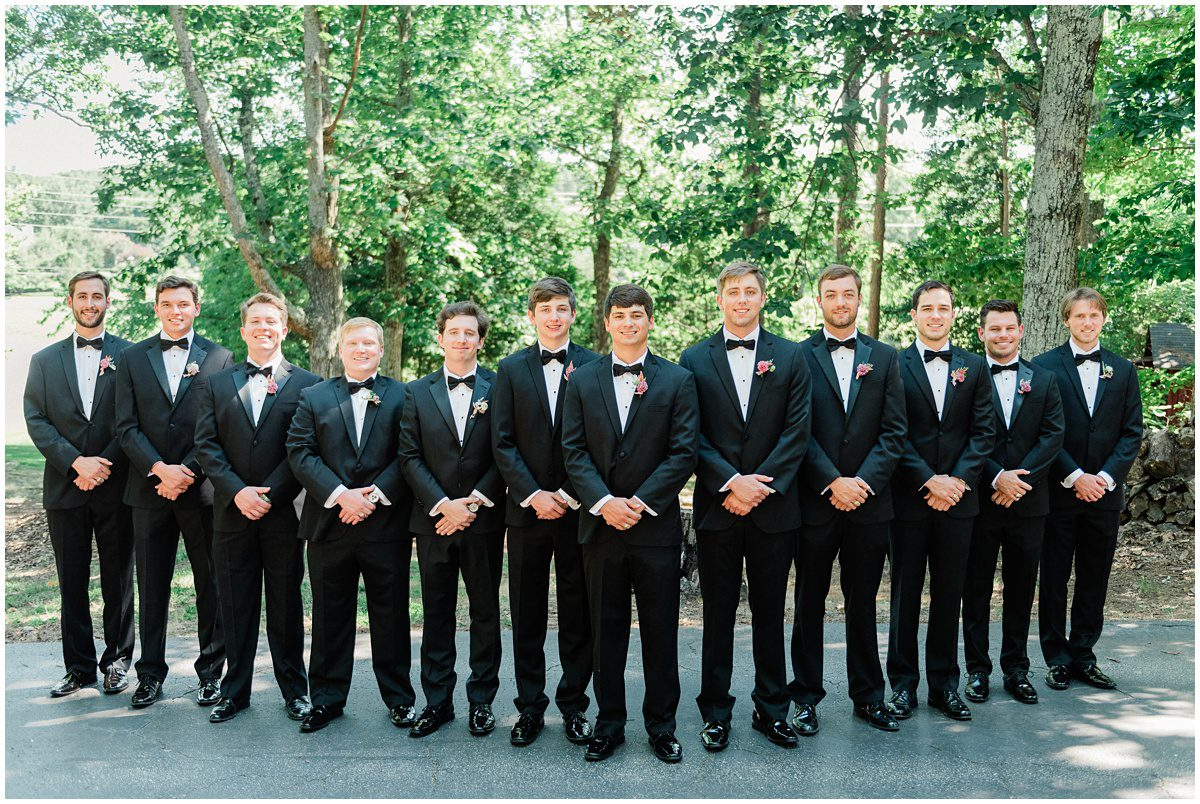 Groomsmen black tie photos