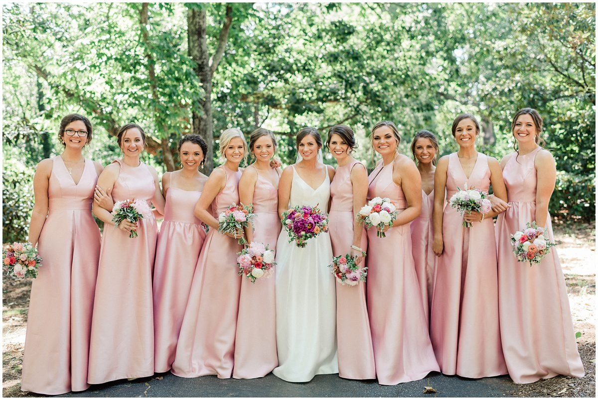 Pink bridesmaid dresses for Greenville L wedding