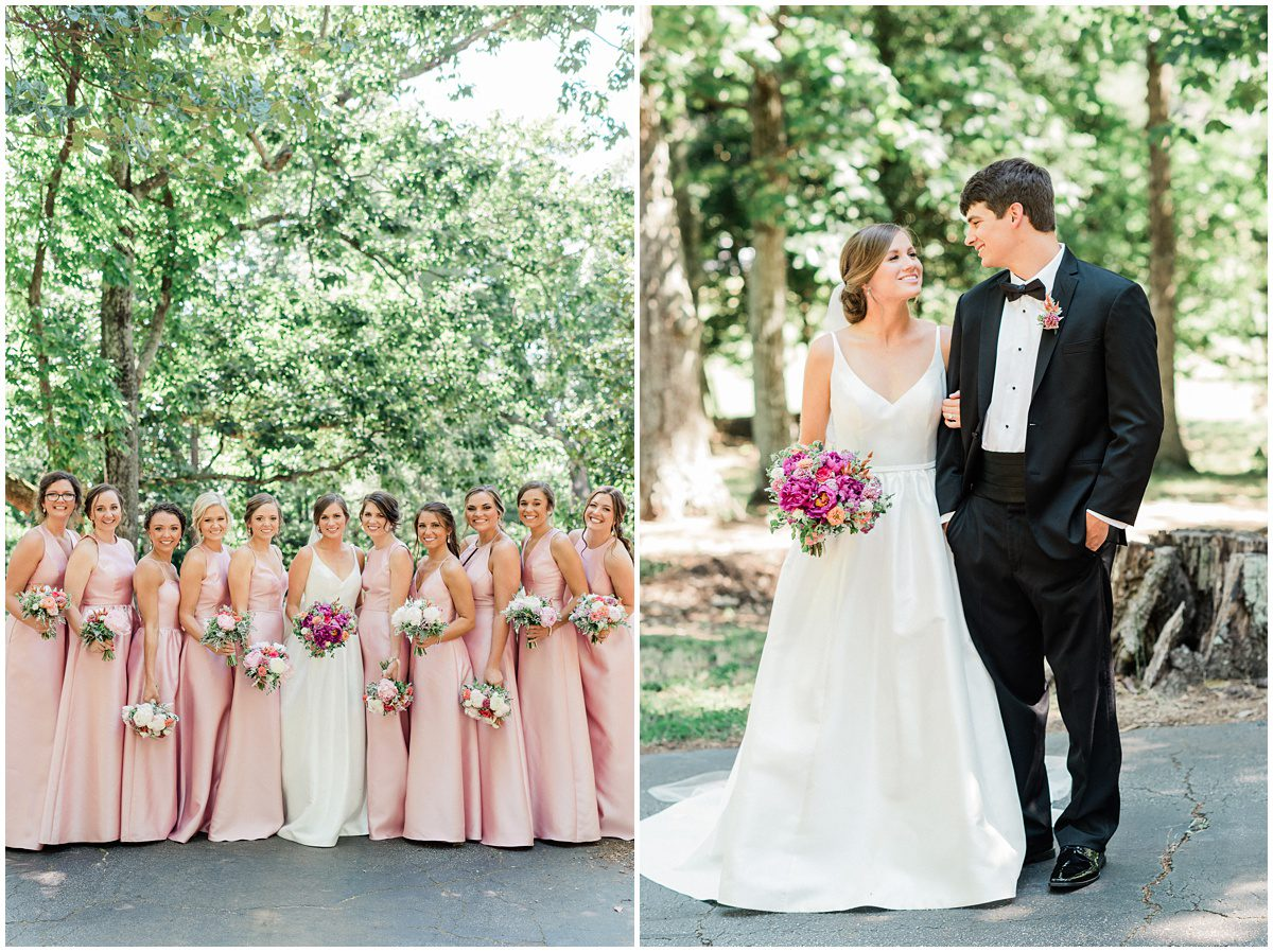 Pink Greenville SC Wedding at the L