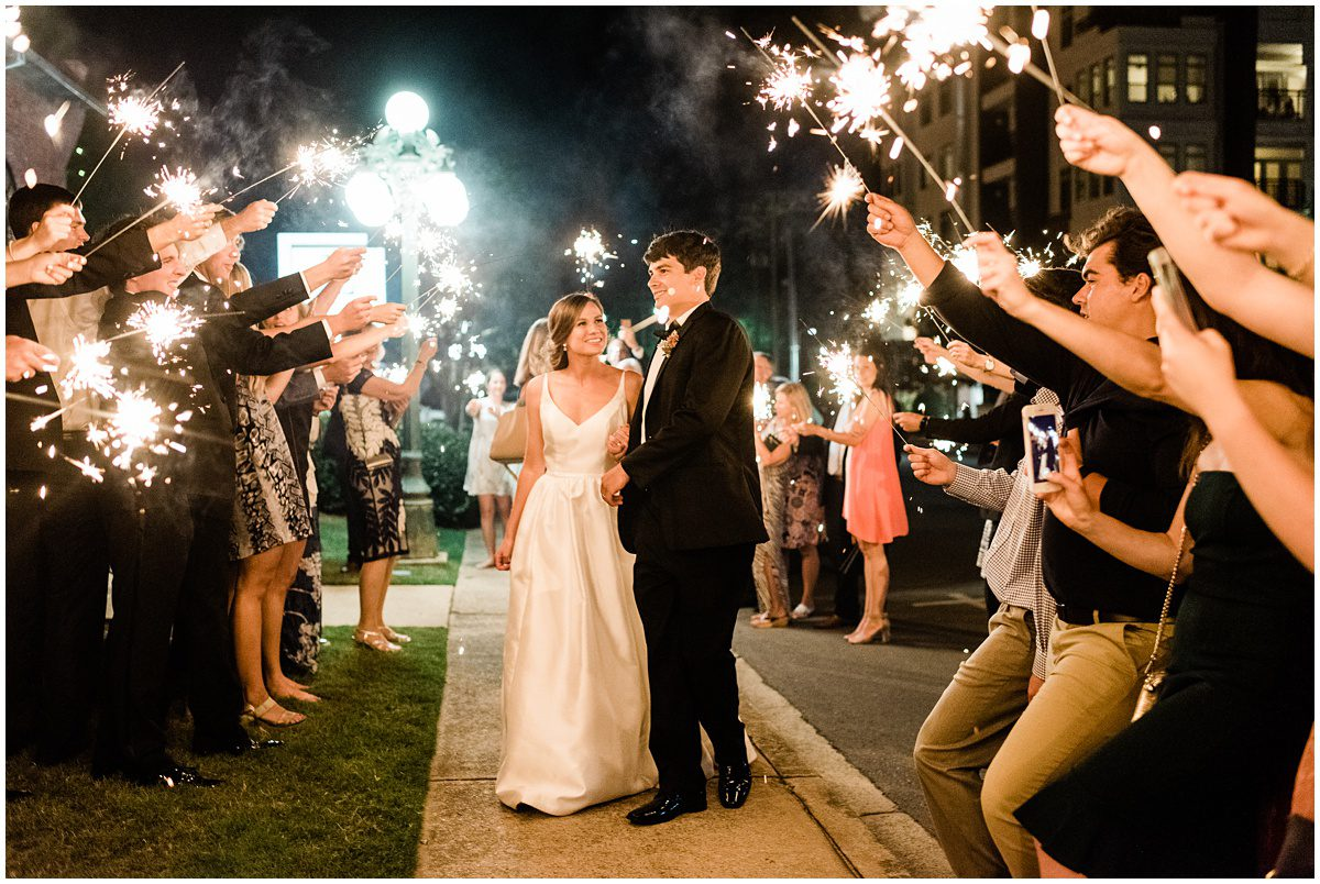 Downtown Greenville L Wedding Sparkler Exit