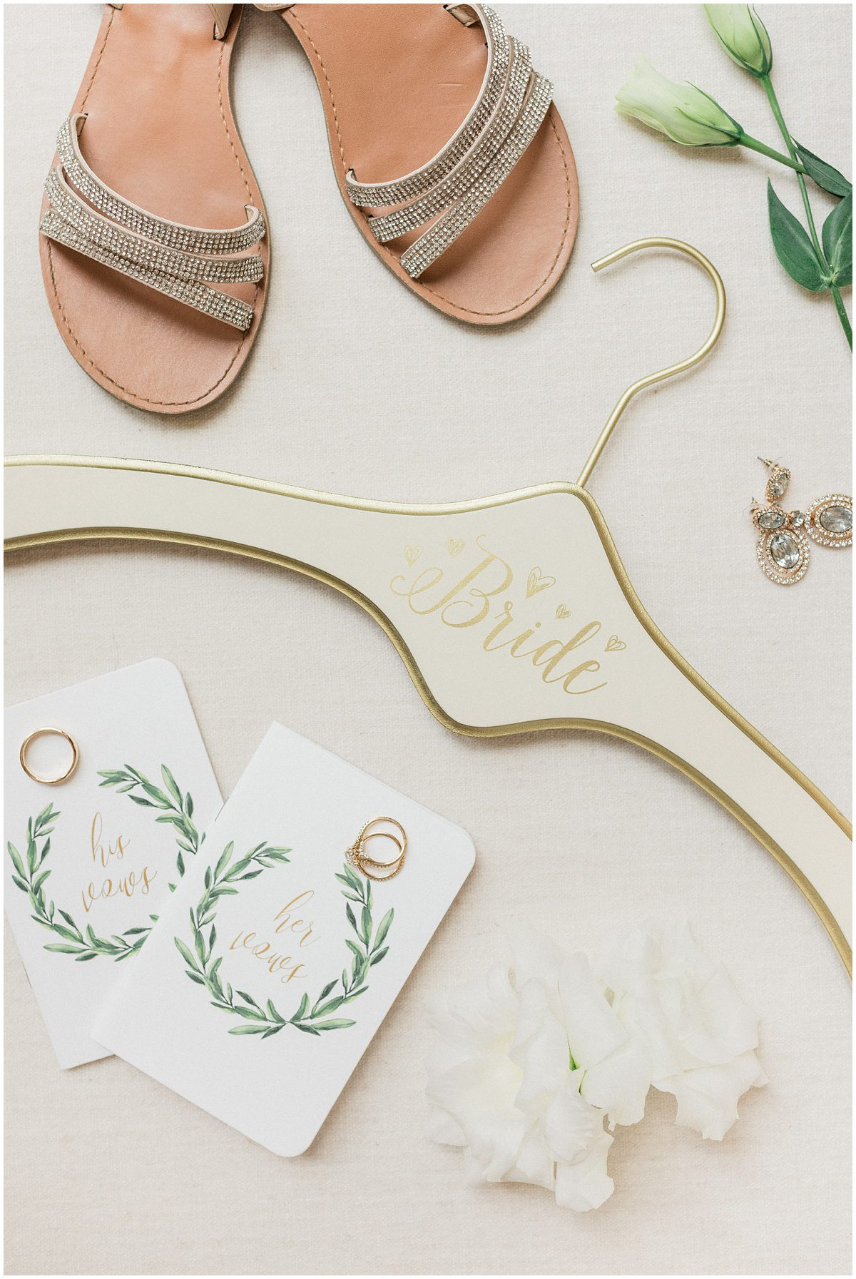 Ivory and gold Bride Hanger