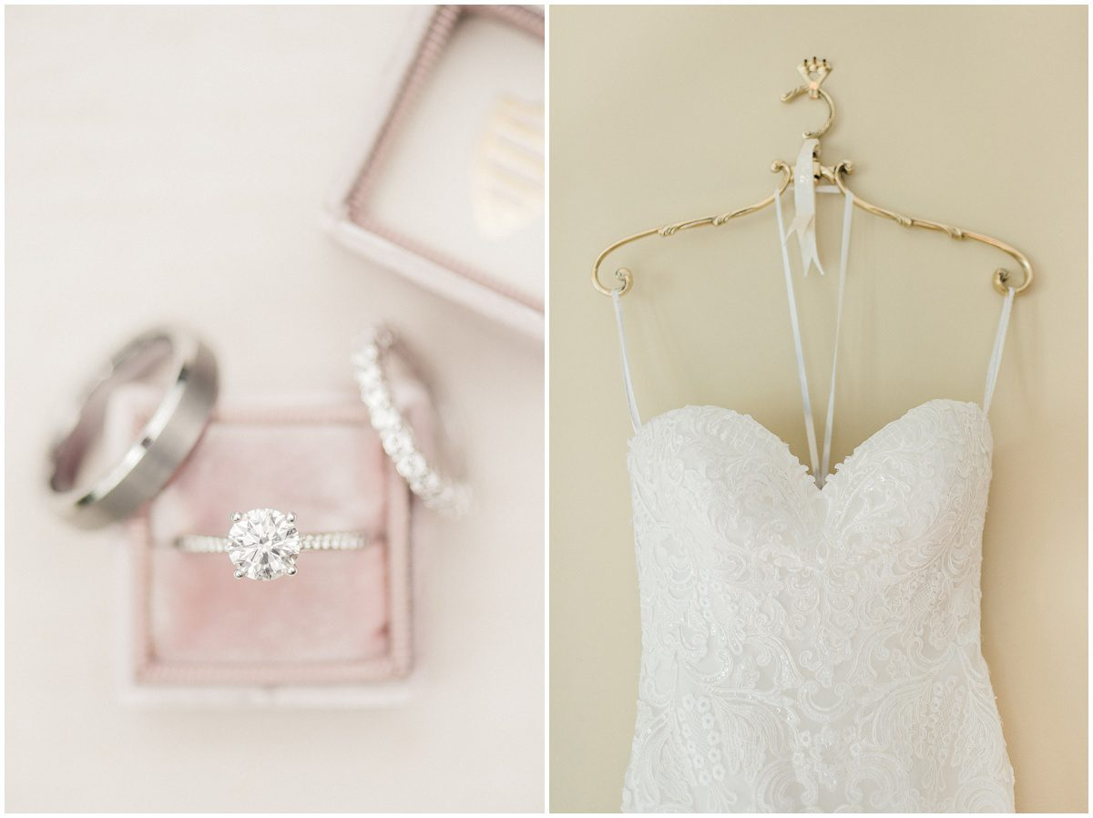 Bridal details with pink mrs box