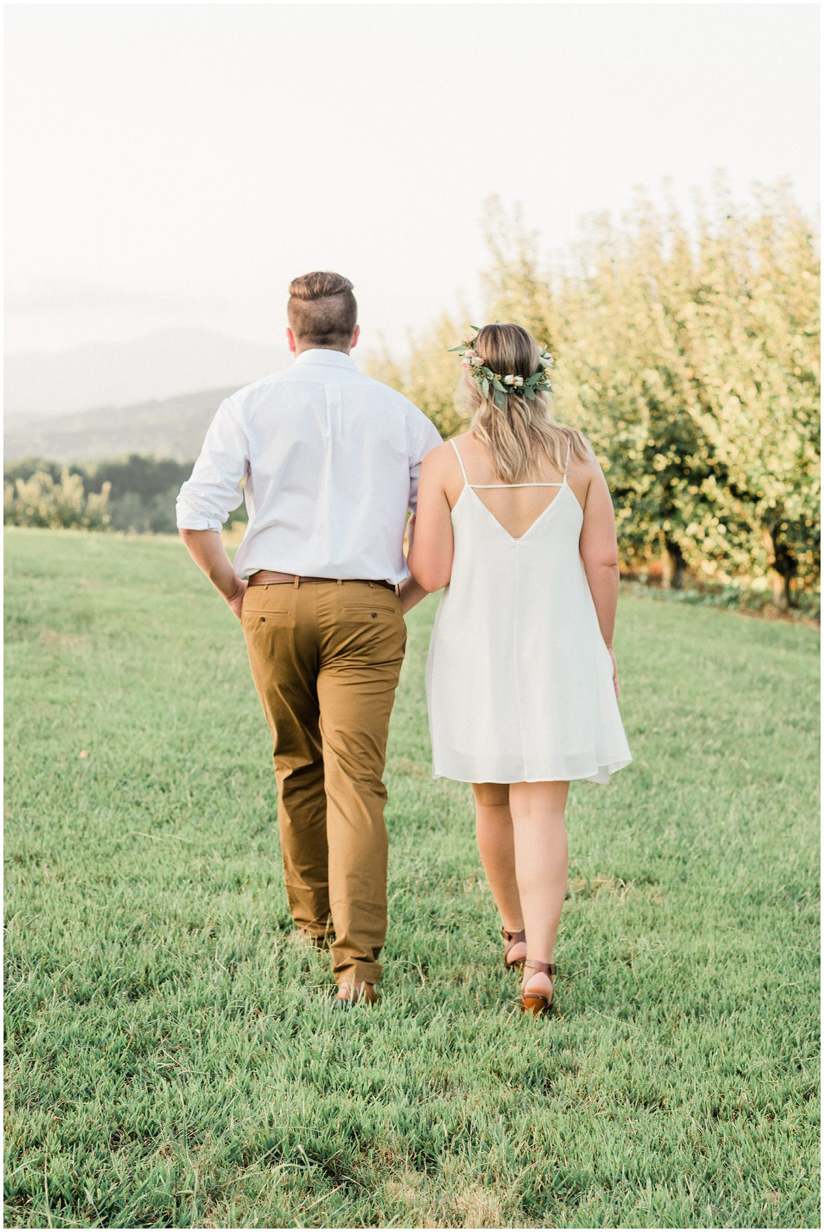 Engagement photos with flower crown