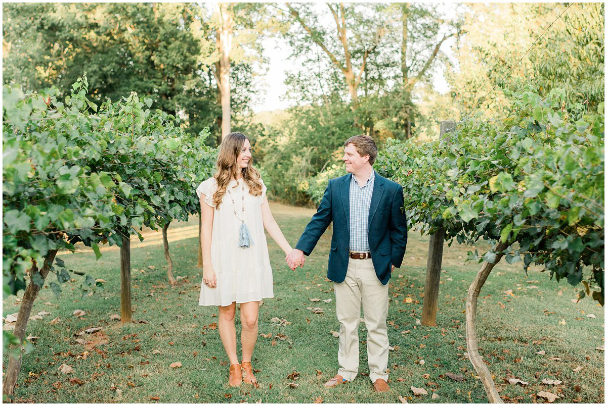 City Scape Winery Engagement Session