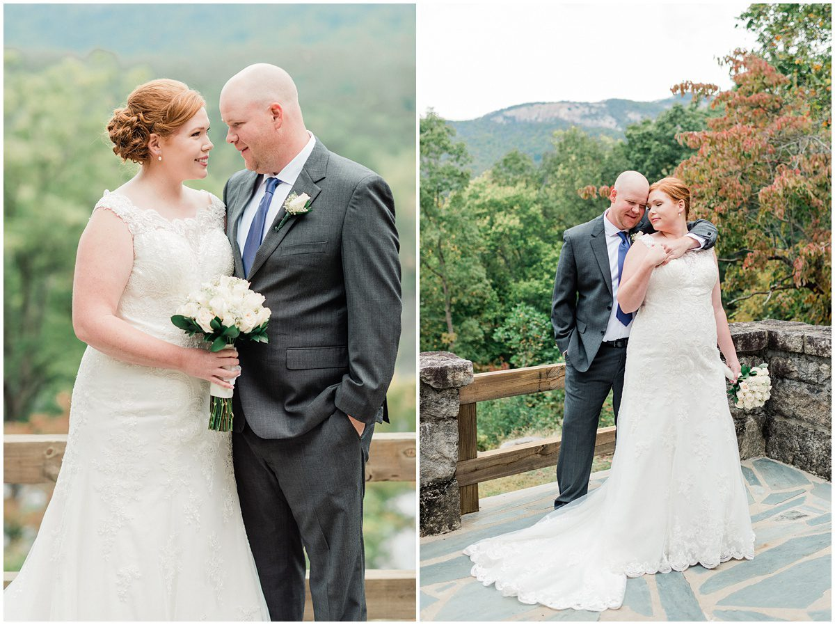 Table Rock State Park Wedding bride and groom photos