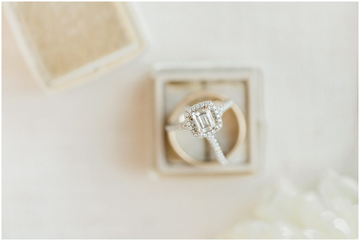 Wedding rings with Mrs. Box