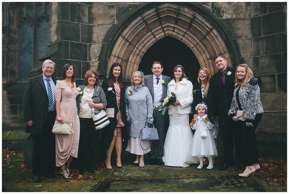 Family group photos are quick and easy when done outside the church immediately after the ceremony. Something to bear in mind when planning your wedding day photography timeline.