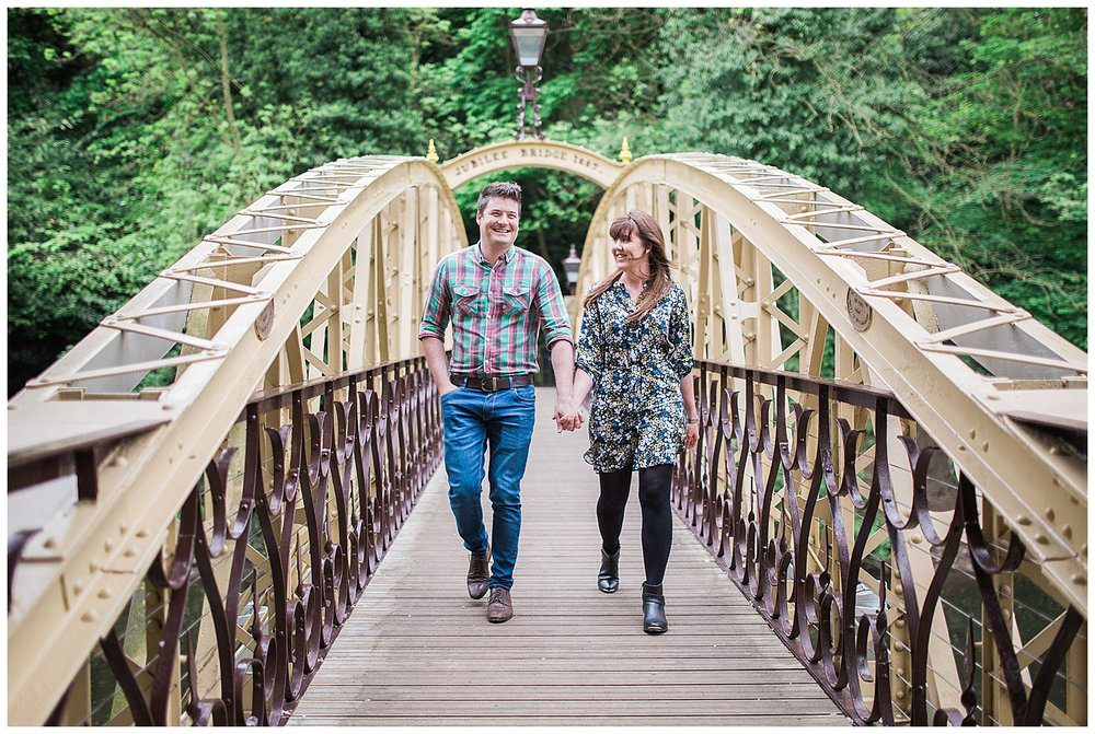 What to wear for your engagement shoot - small patterns are fine.
