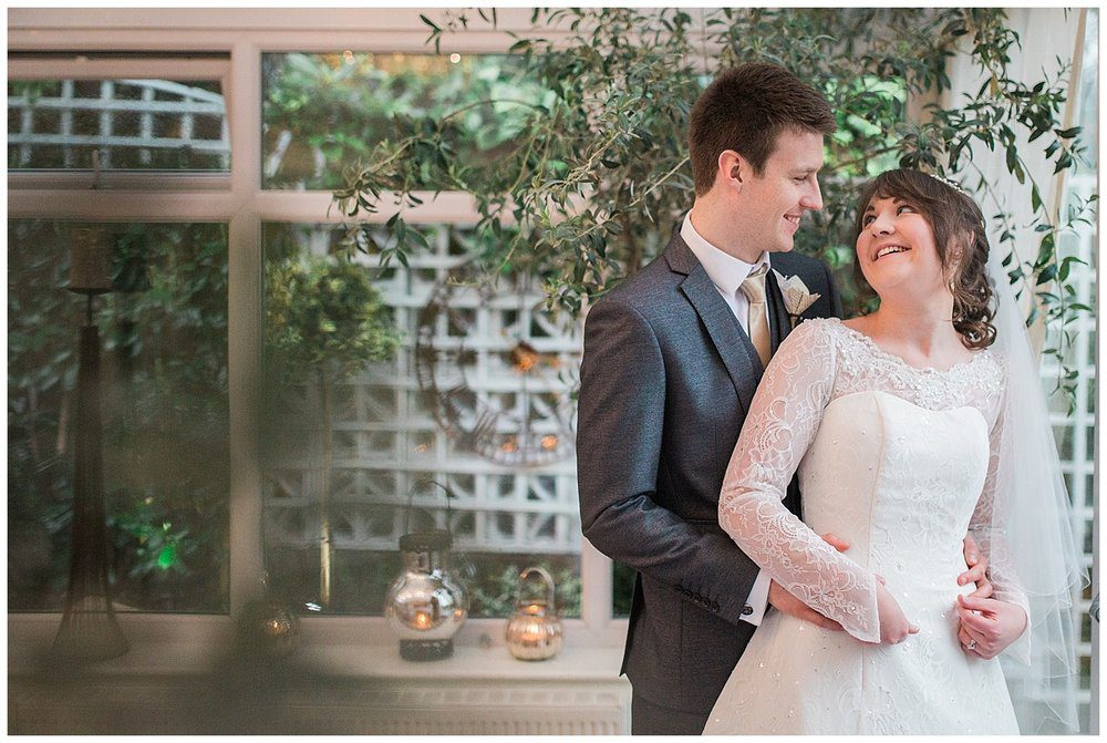 Indoor photography at winter weddings. Some venues are ideal for indoor portraits in wet and cold weather.