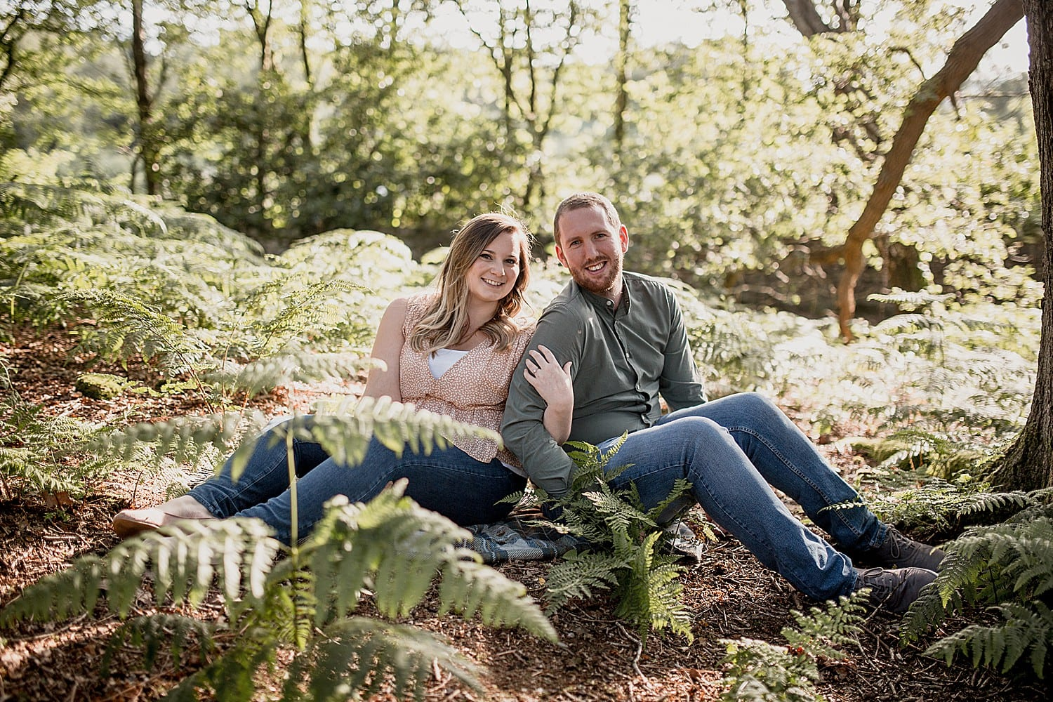 engaged couple at alderley edge