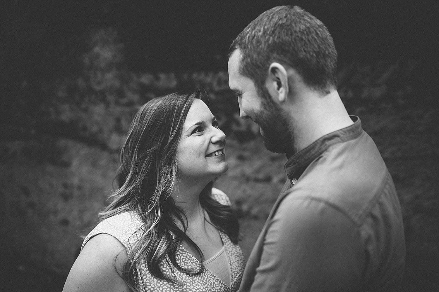 engaged couple in cheshire