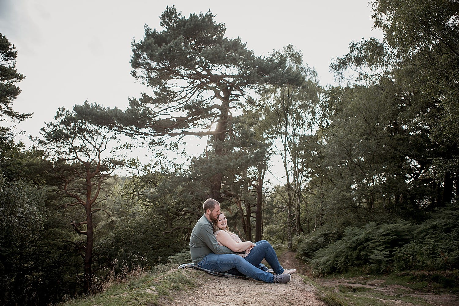 engaged couple in alderley edge