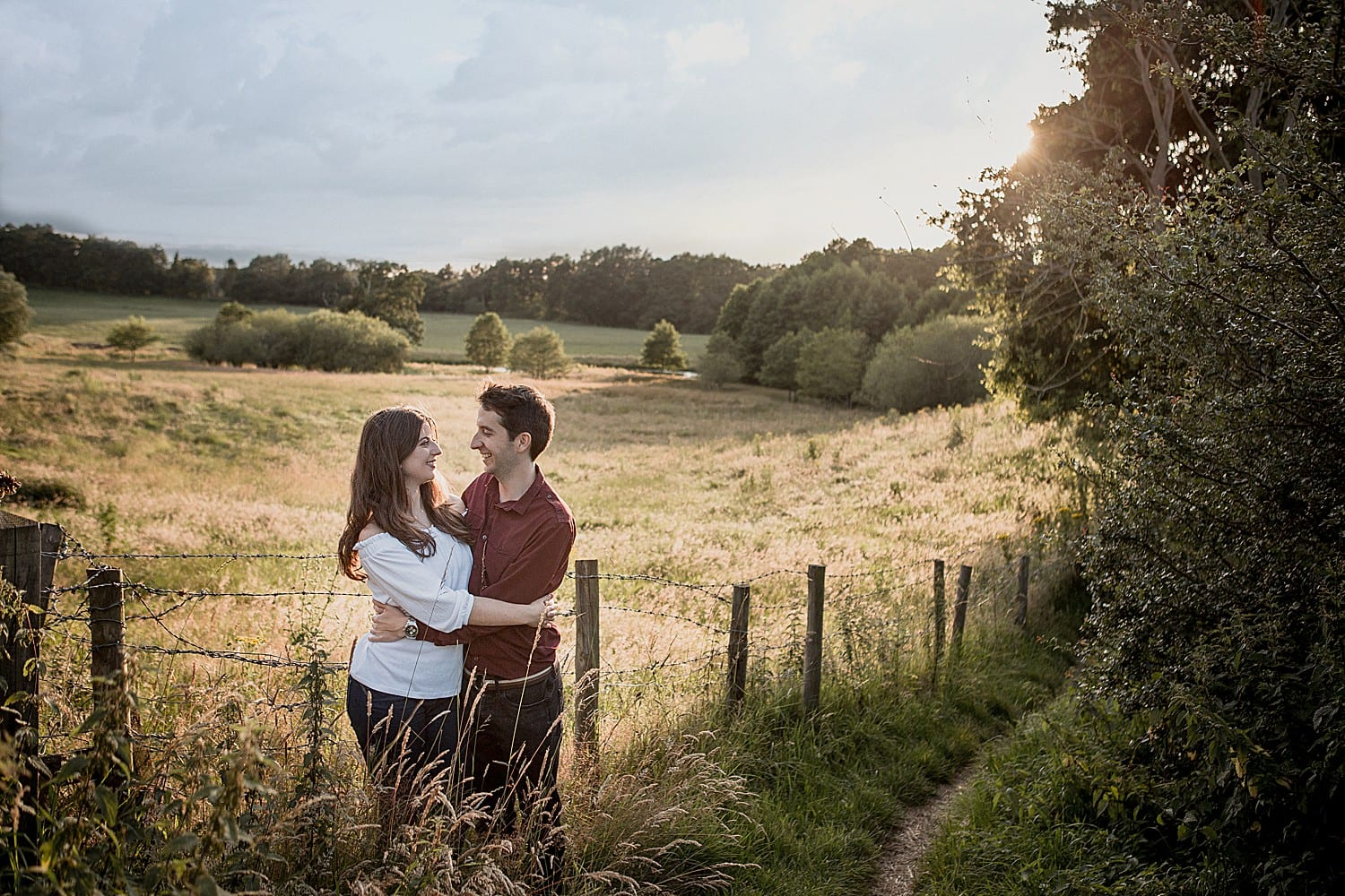 Engagement shoot in Cheshire countryside