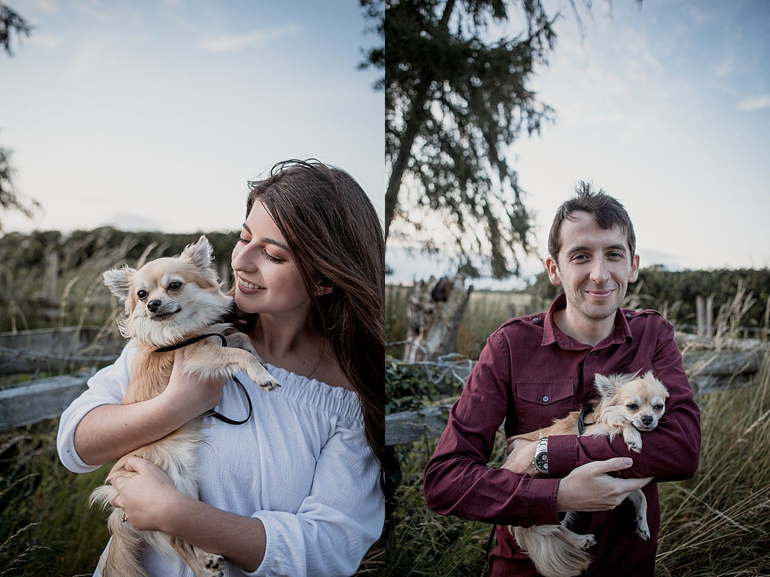 Couples shoot with Chico the dog