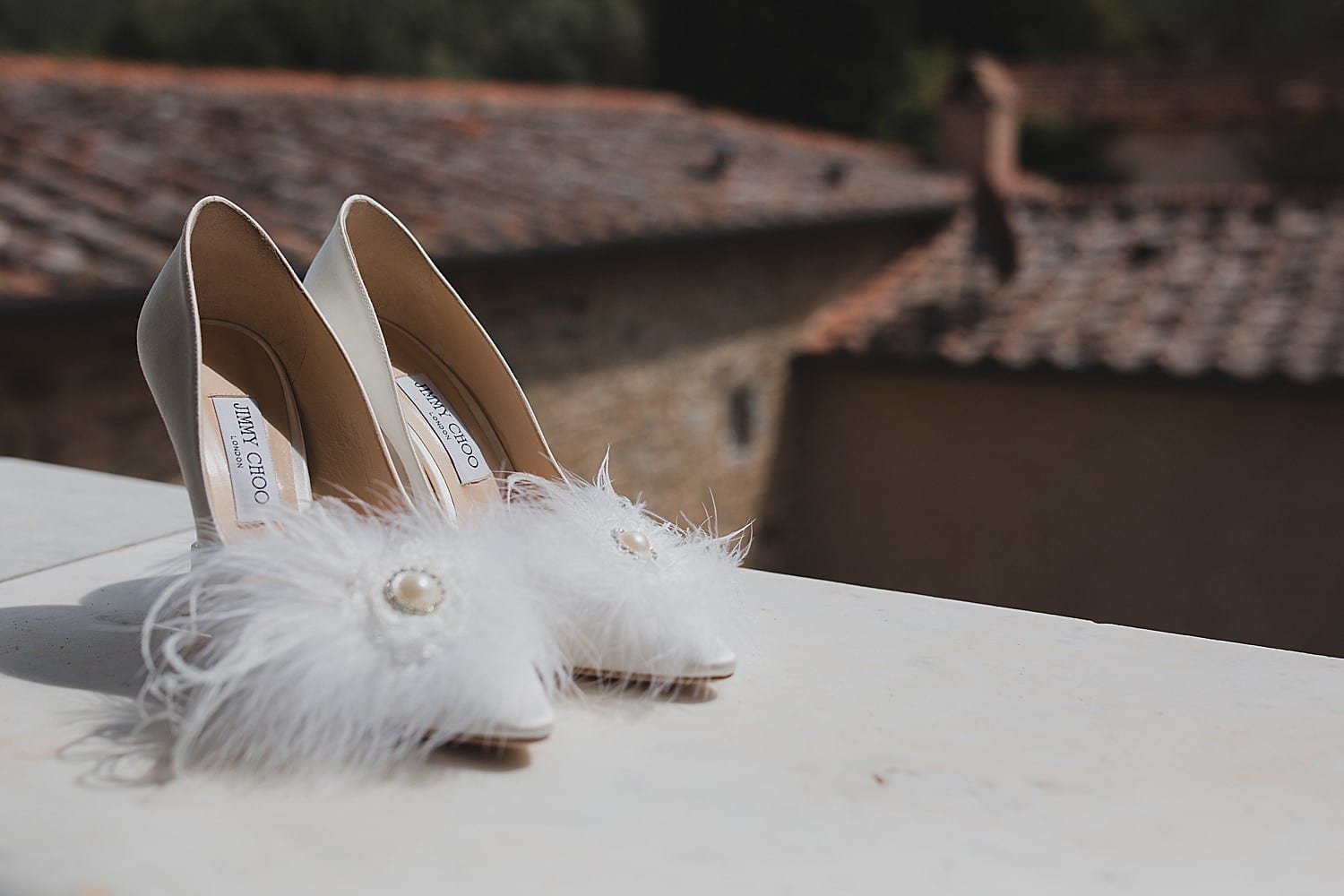 Jimmy Choos for a Tuscany wedding
