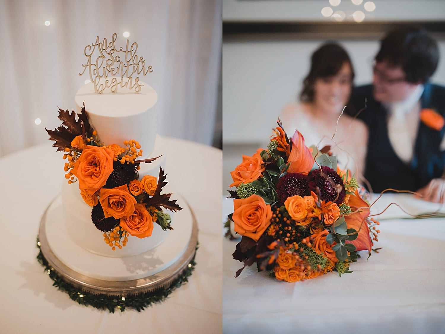 autumn colours at cheshire wedding
