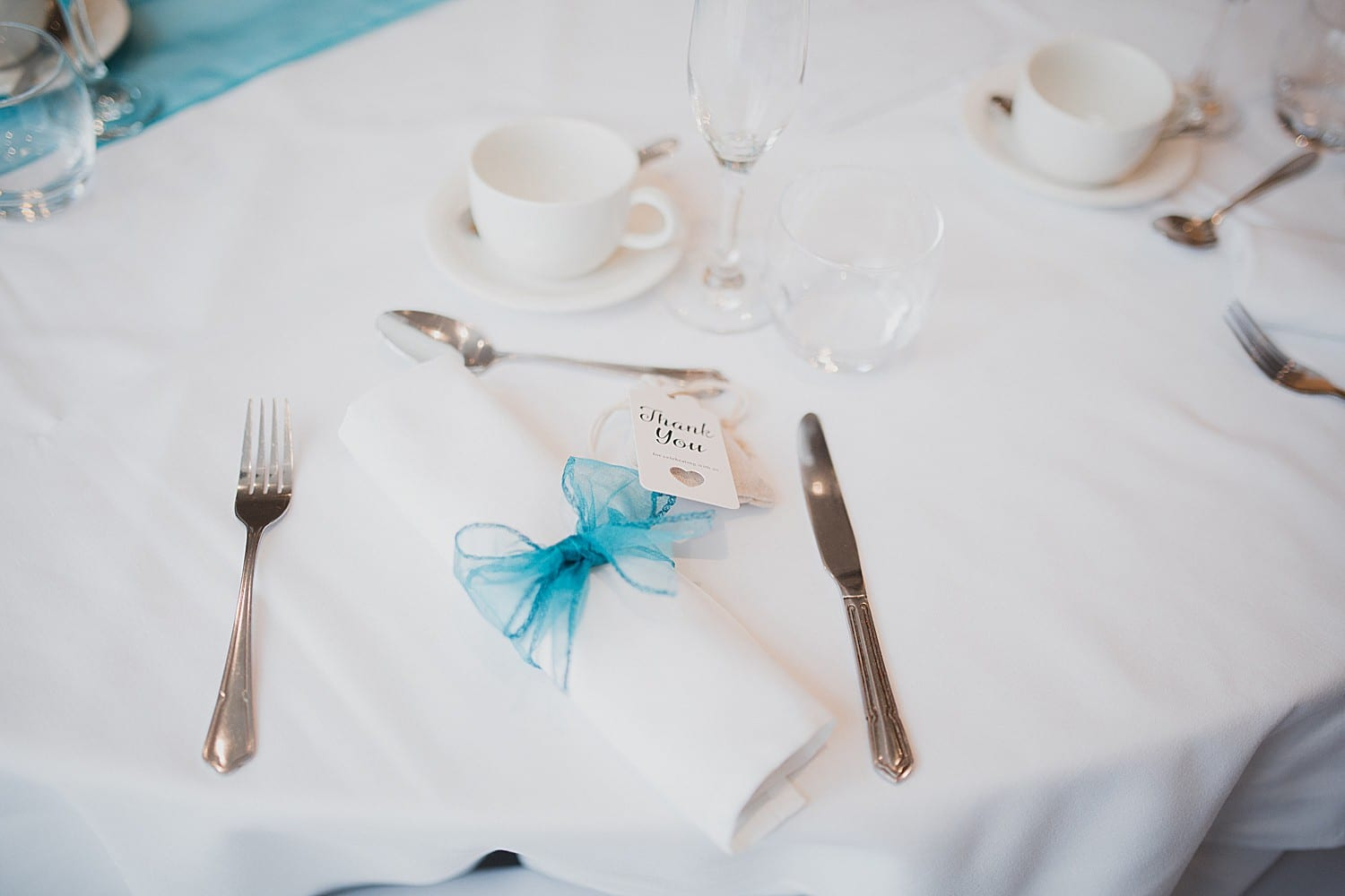 teal wedding table