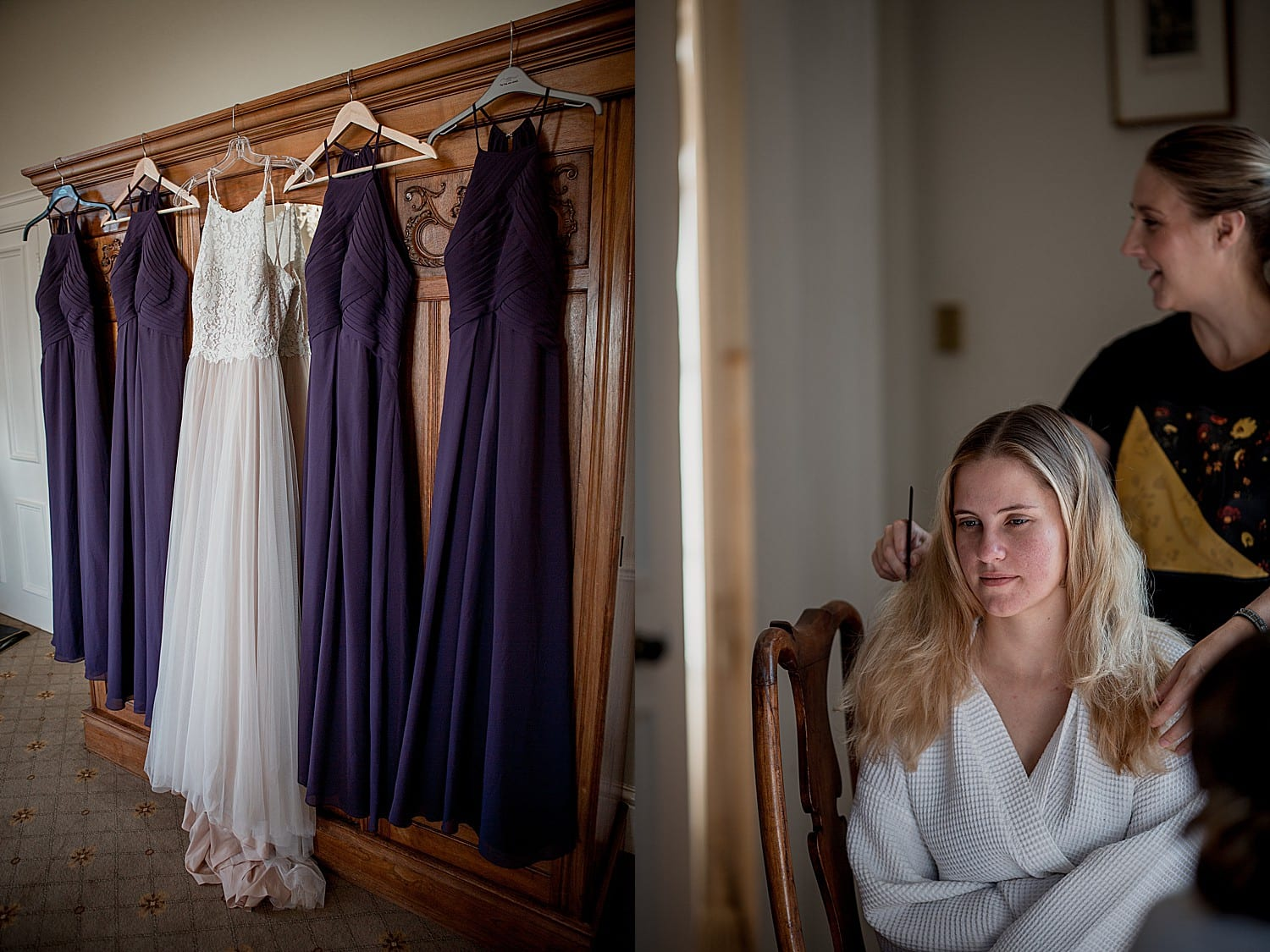 bridal prep at willington hall