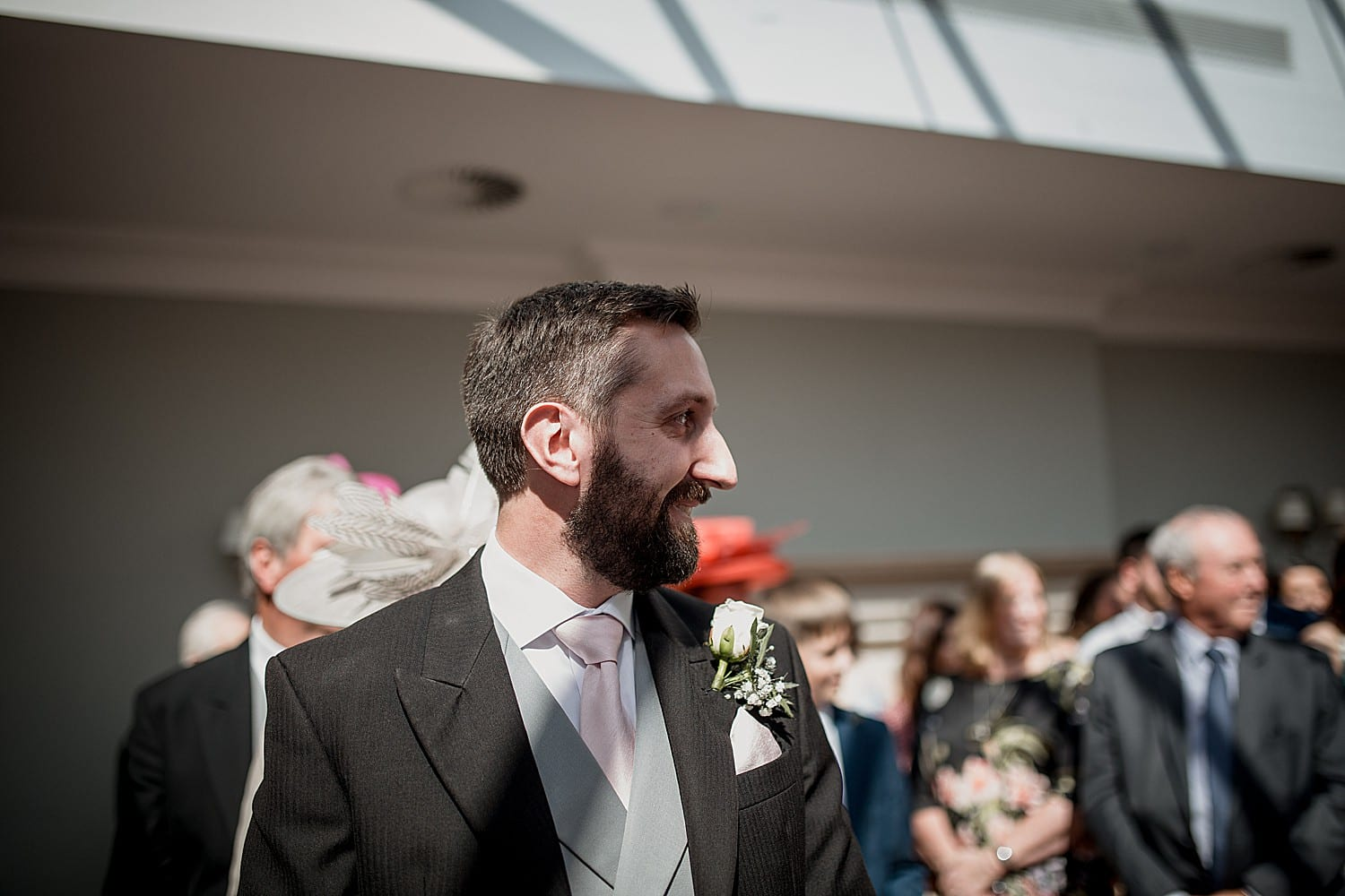 groom at cheshire wedding