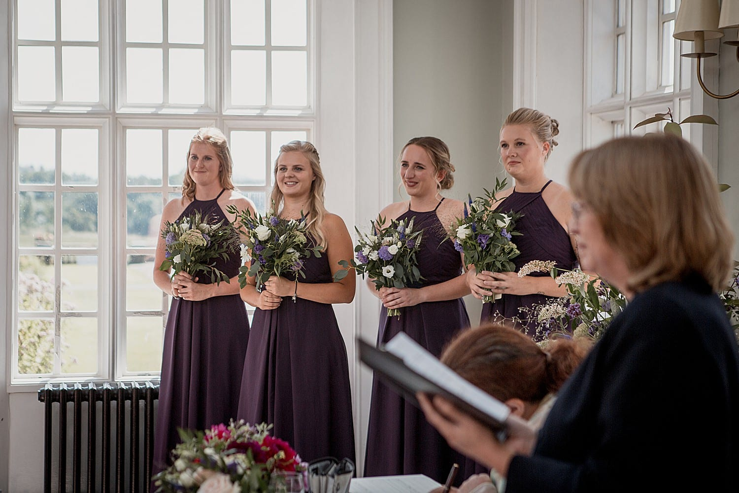 bridesmaids at willington hall wedding