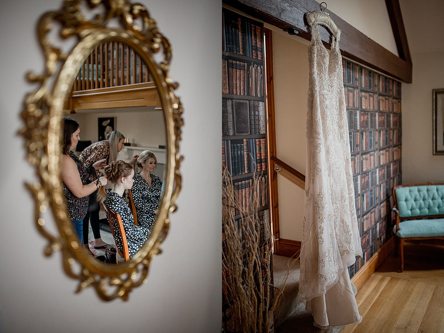 bridal prep at buddileigh farm