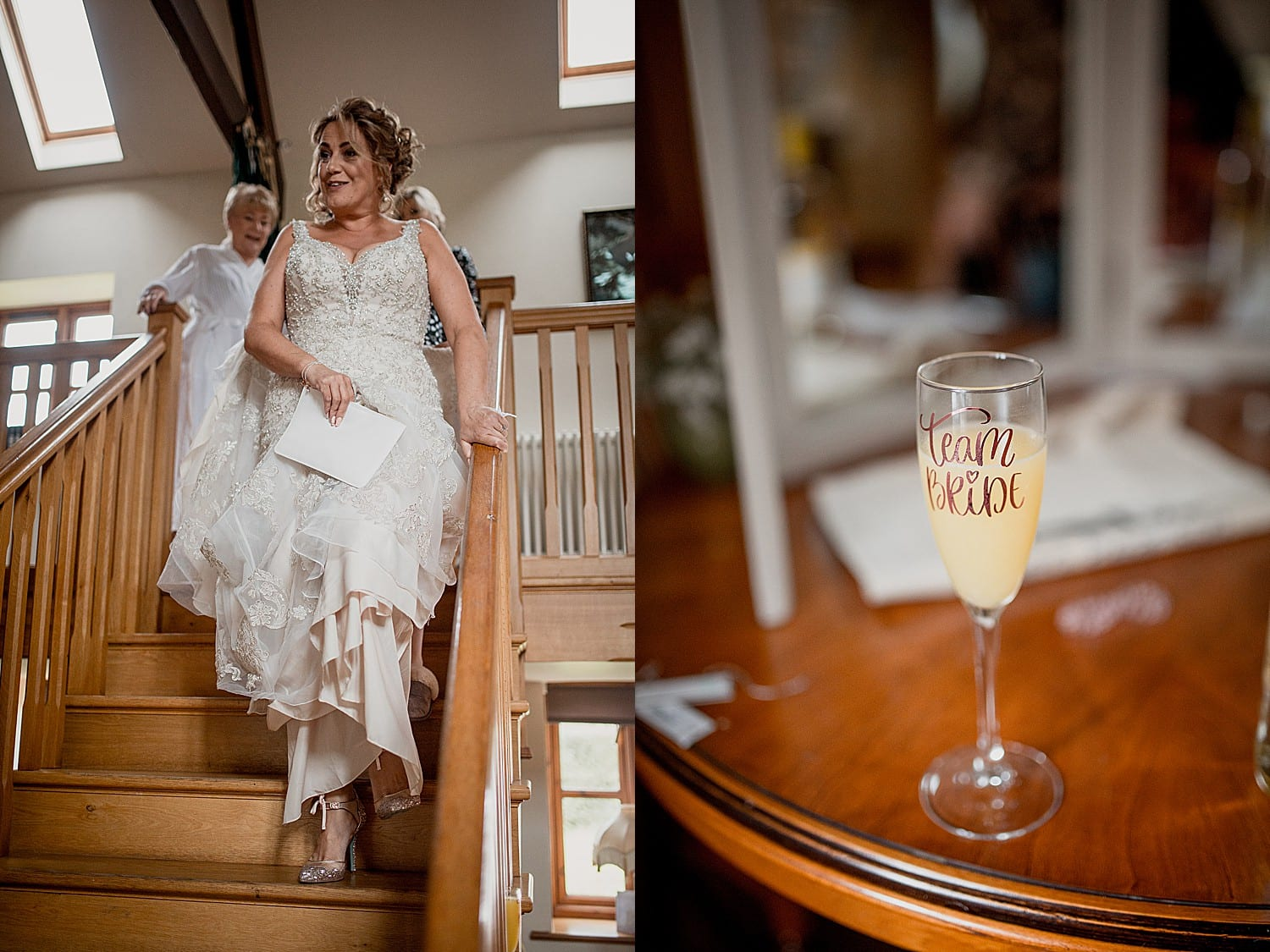 bridal prep at buddileigh farm cheshire