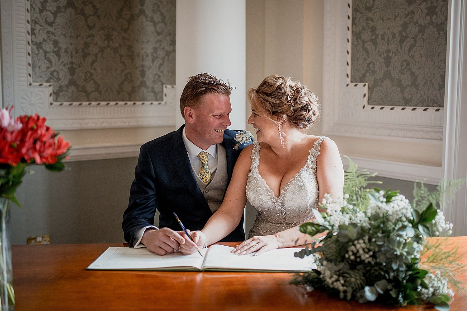 signing the register at crewe town hall