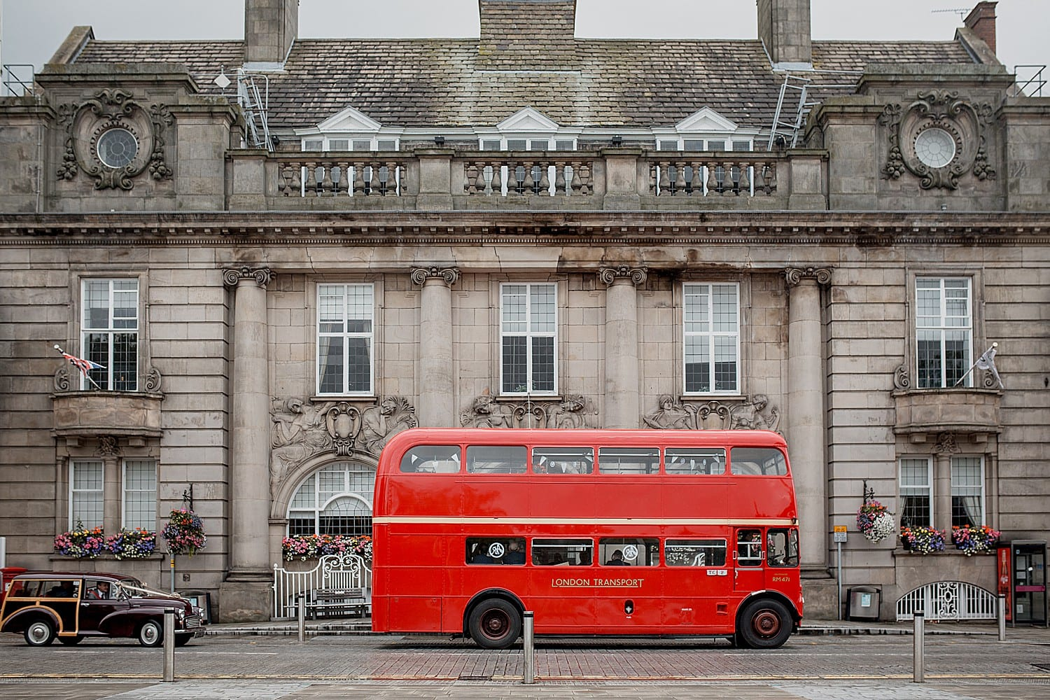 crewe town hall wedding bus