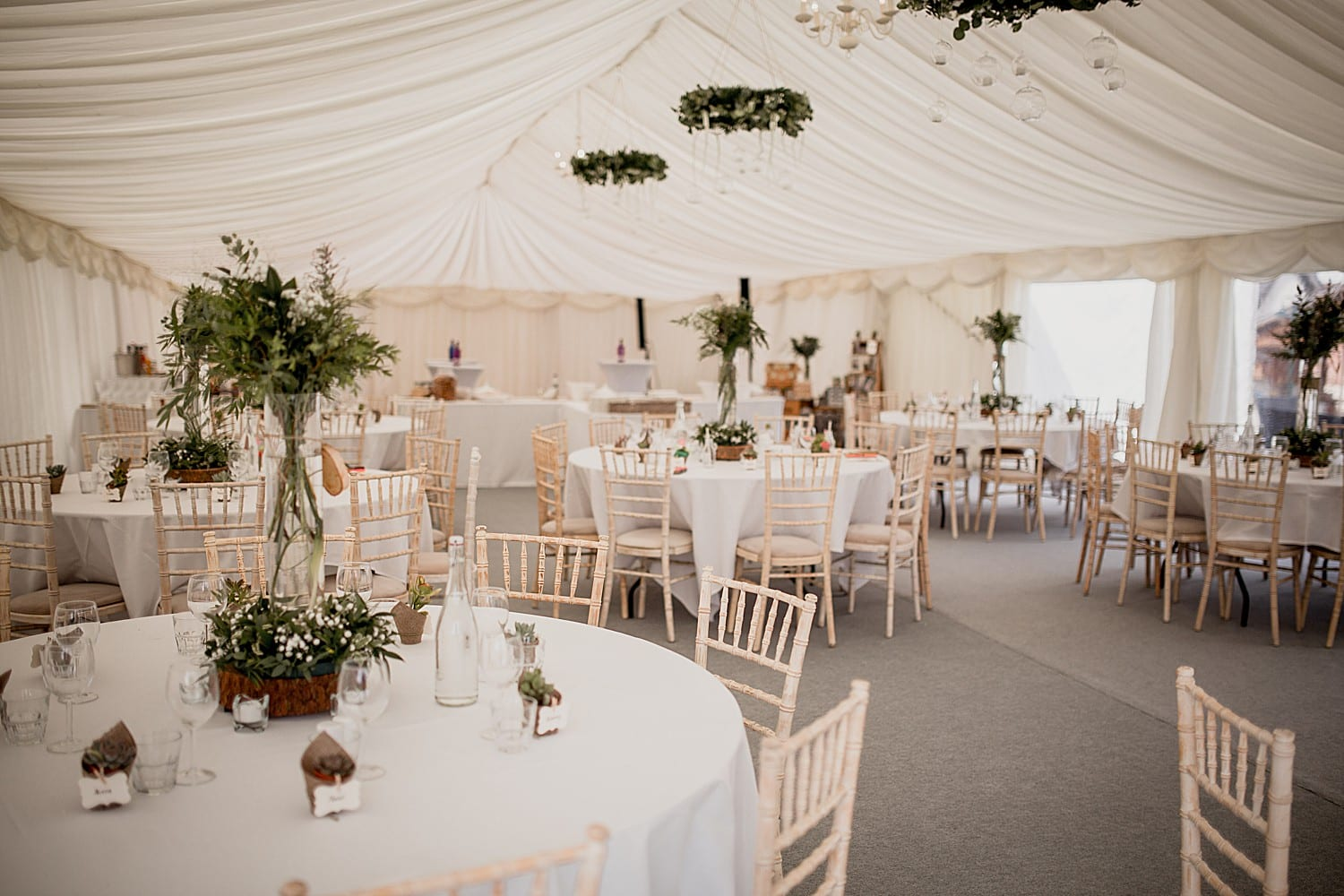marquee at buddileigh farm