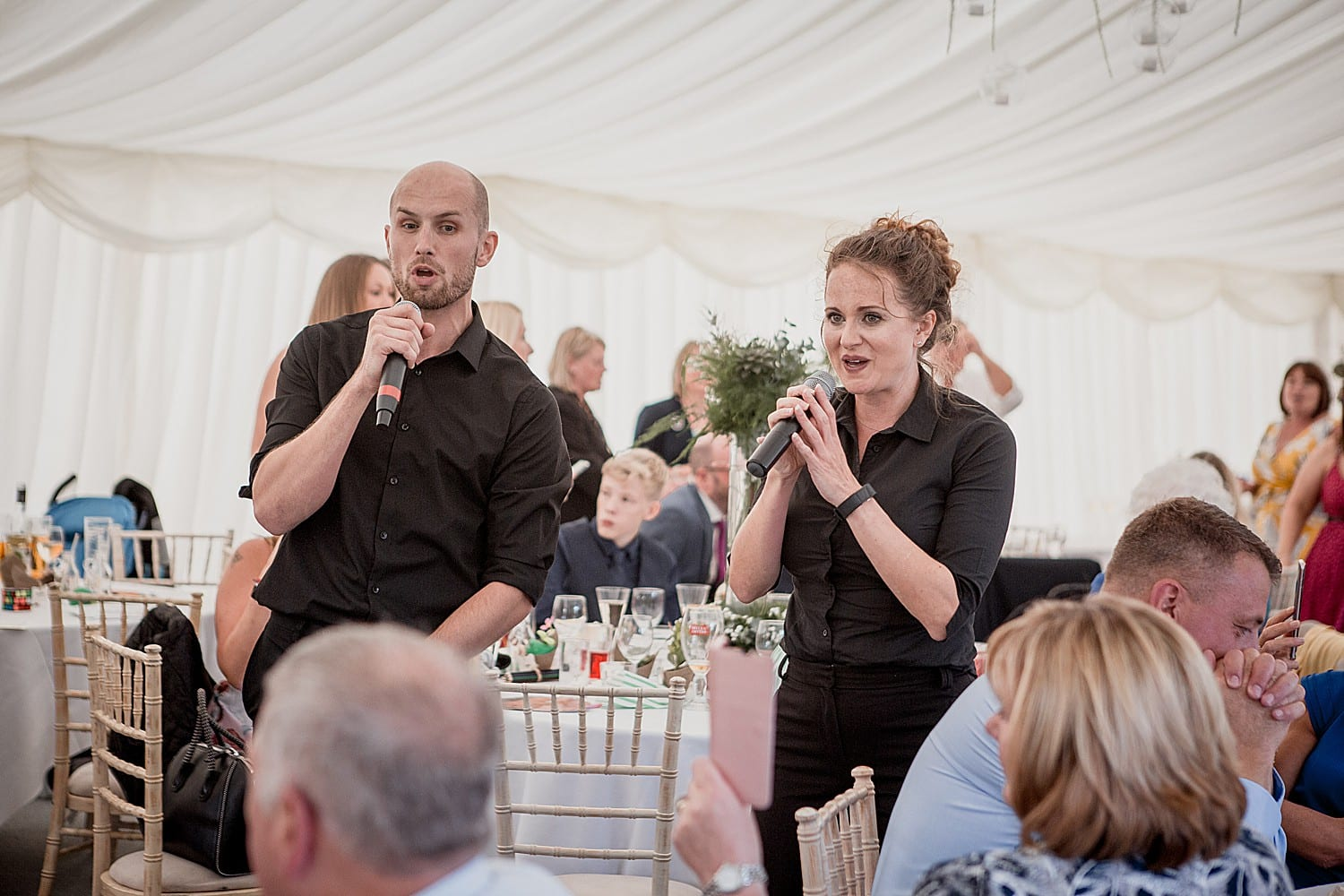undercover singers at cheshire wedding