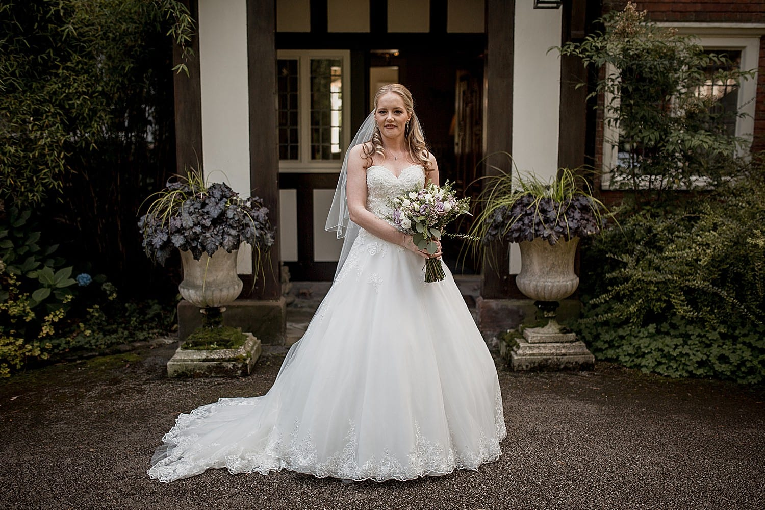 bride at abbeywood estate in cheshire