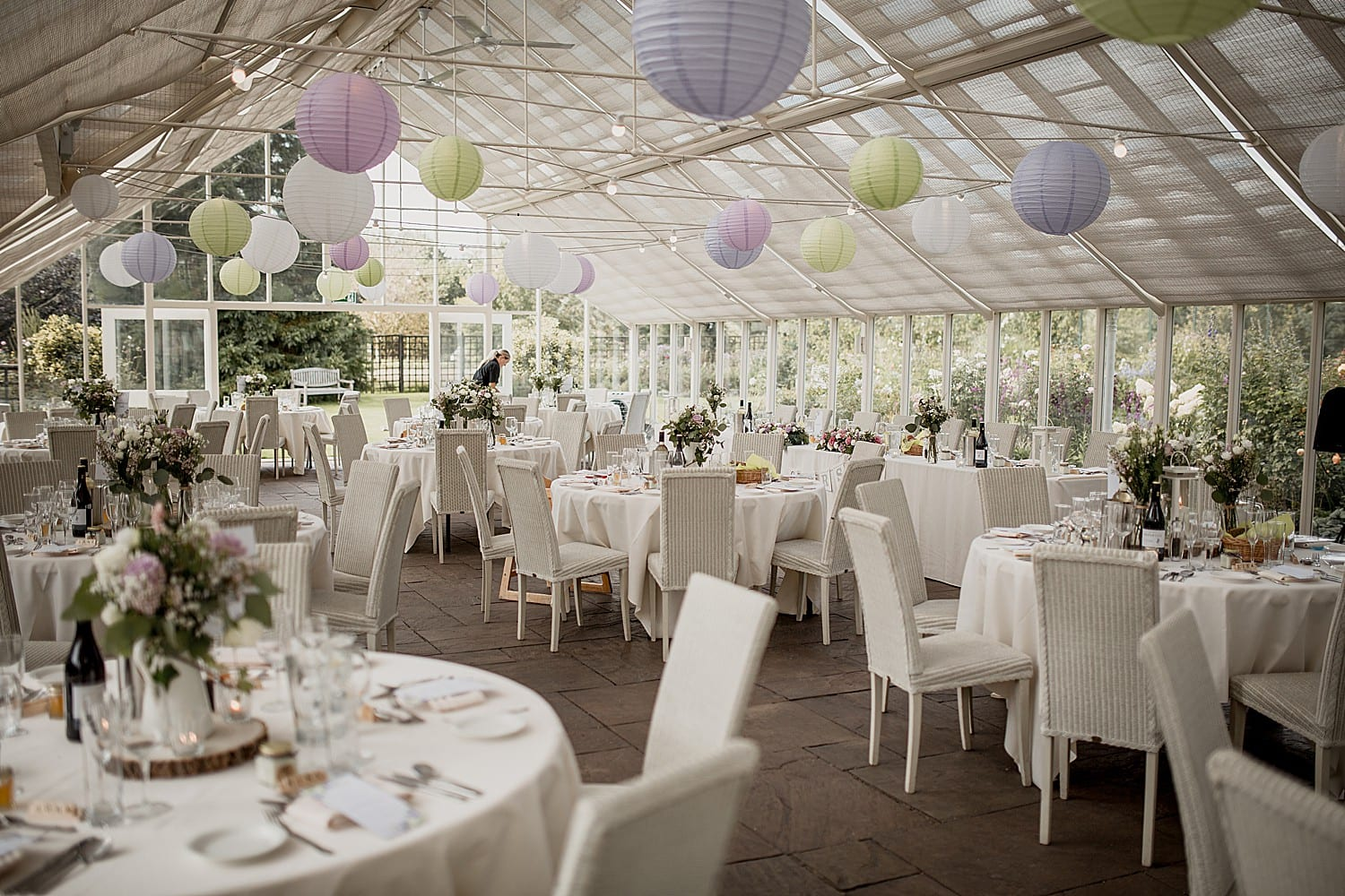 the reception setting at abbeywood estate