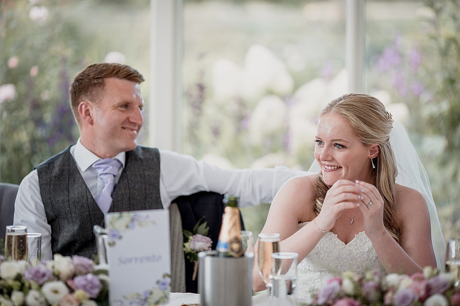 the speeches at an abbeywood estate wedding in cheshire