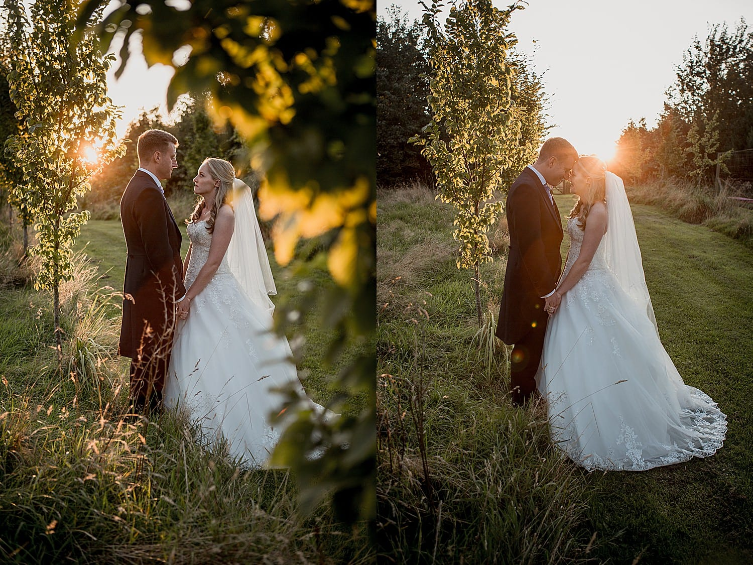 sunset at abbeywood estate wedding