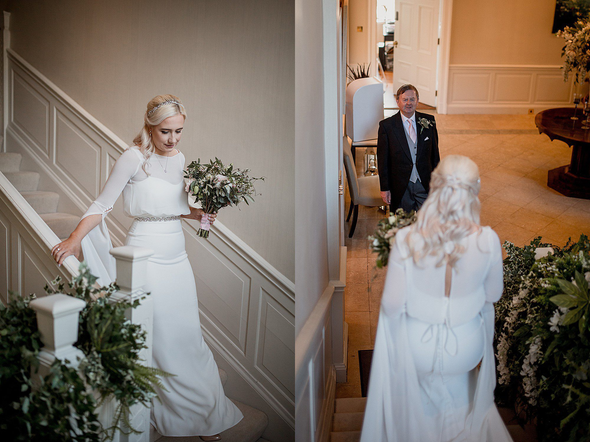 bride sees her father at delamere manor