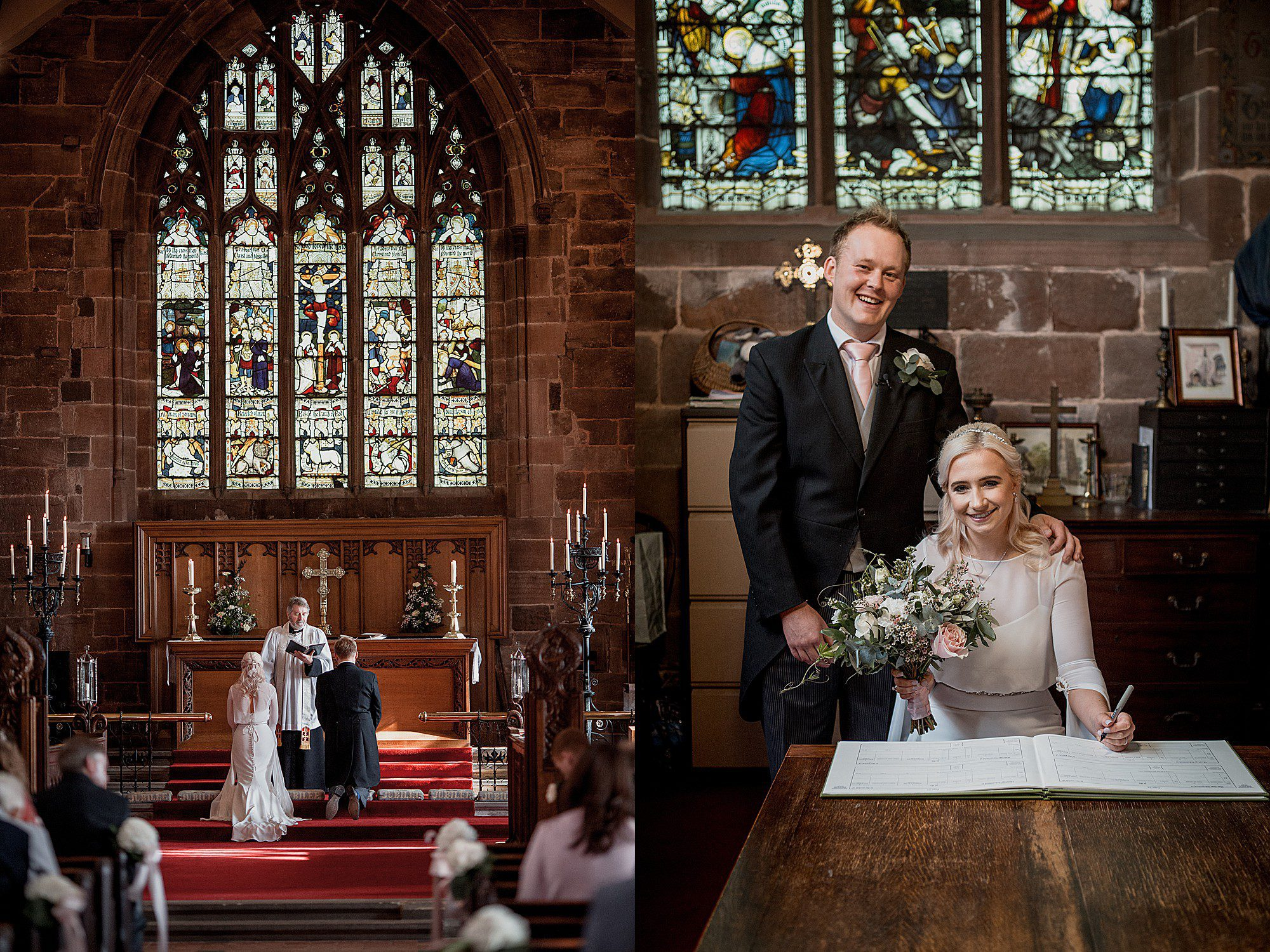church wedding photography in cheshire