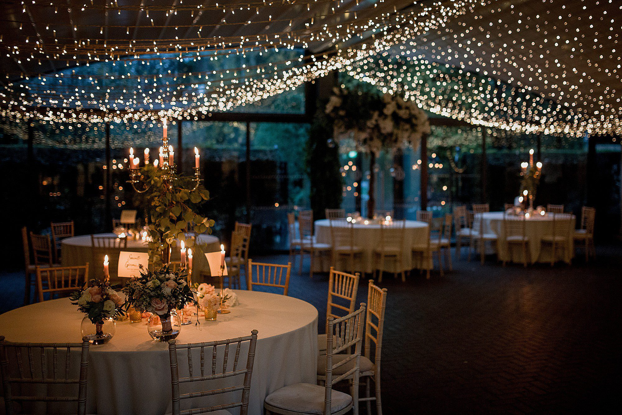 the starlit courtyard at delamere manor