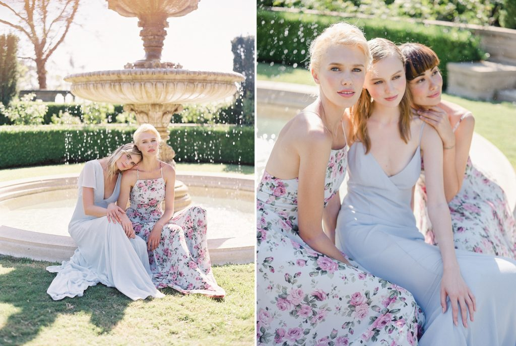 bridal shoot in full sun film and digital images edited with refined x caroline tran presets