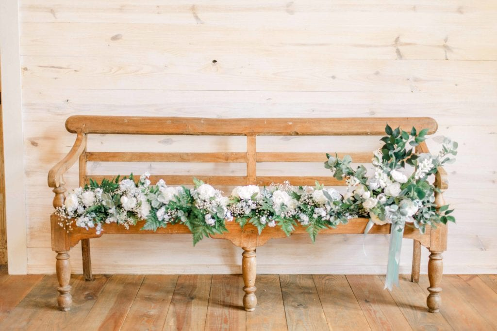 gorgeous florals at wedding
