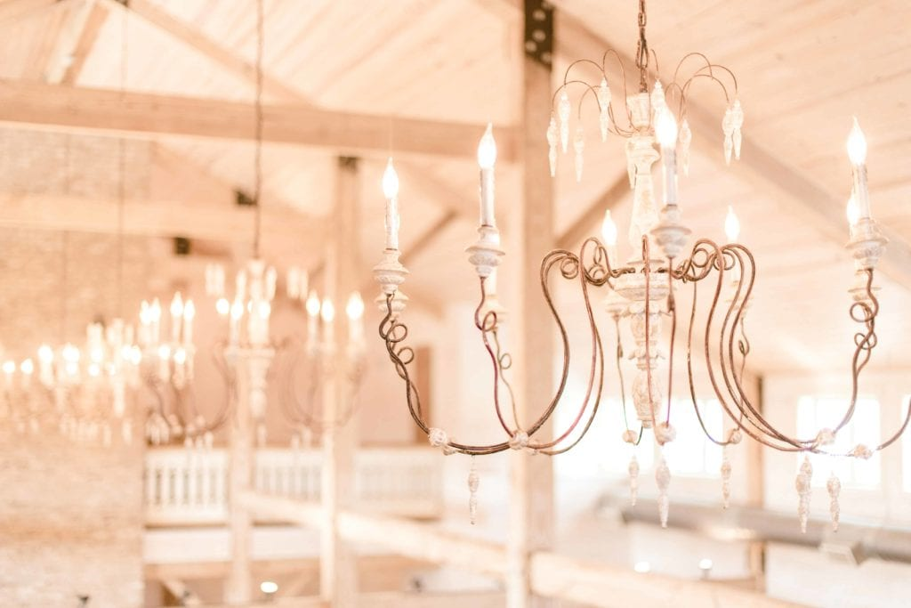 white magnolia chandeliers